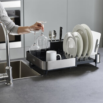 Extend Steel Dish Rack - Grey