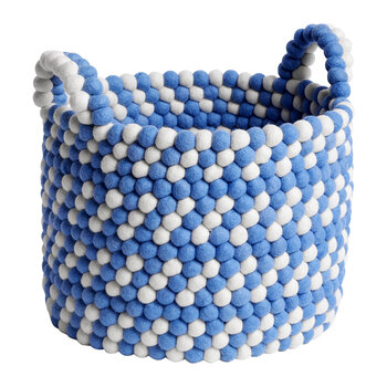 Bead Basket with Handles - Blue Dash