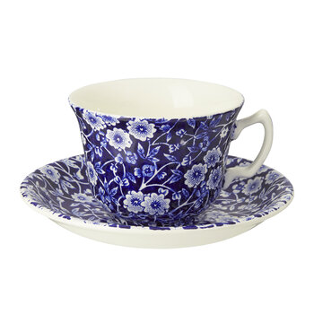 Calico Teetasse & Untertasse in Blau
