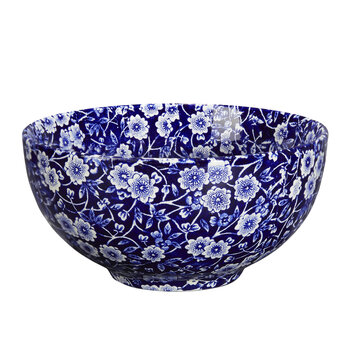 Blue Calico Small Footed Bowl - 16cm