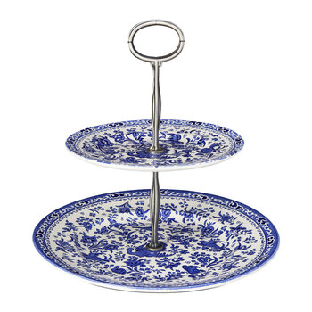 Regal Peacock 2 Tier Cake Stand