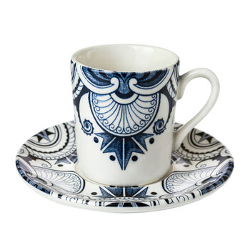 Ink Blue Palisade Espresso Cup & Saucer