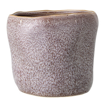 Stoneware Textured Flowerpot - Purple