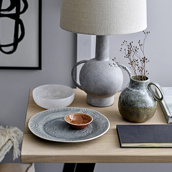 Terracotta Handle Table Lamp - Grey