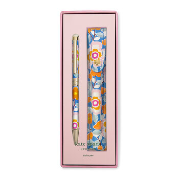 Pop Floral Stylus Pen with Pouch