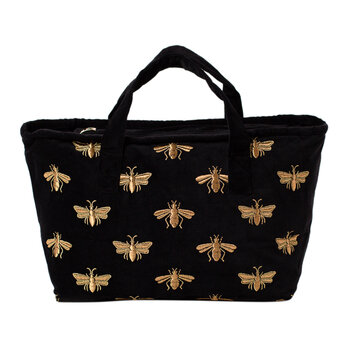 Velvet Bee Weekender Bag - Black