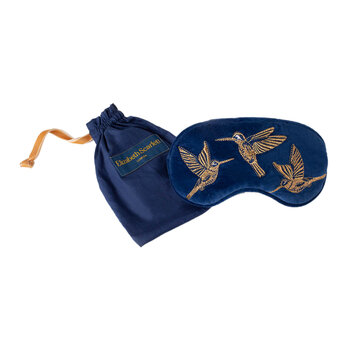 Hummingbird Travel Pouch and Eye Mask Set