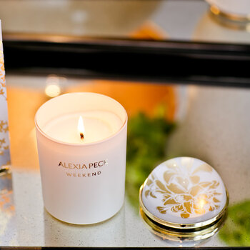 Weekend Candle & Paperweight - Osmanthus & Orange Blossom