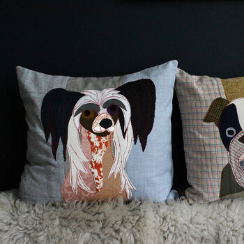 Pixie the Chinese Crested Cushion - 50x50cm