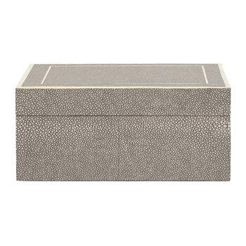Mateus Faux Shagreen Box - Sand - Small