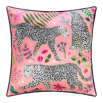 Snow Leopard Pillow - 60x60cm - Pink