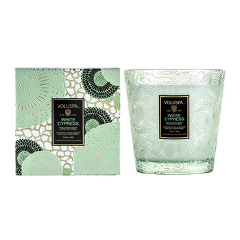 Japonica 2 Wick Glass Candle - White Cypress