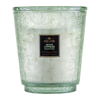 Japonica 5 Wick Hearth Candle - White Cypress