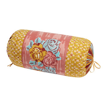 Paradise Garden Bolster Cushion - Old Pink