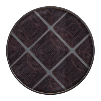 Slate Linear Squares Tray