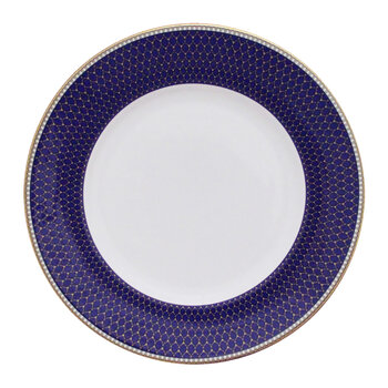 Gordon Castle Antler Trellis Dinner Plate - Midnight