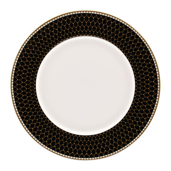 Gordon Castle Antler Trellis Dinner Plate - Black