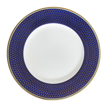 Gordon Castle Antler Trellis Dessert Plate - Midnight