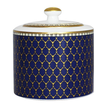 Gordon Castle Antler Trellis Covered Sugar Bowl - Midnight