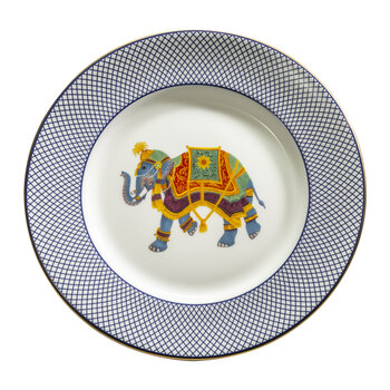 Ceremonial Indian Elephant Dinner Plate