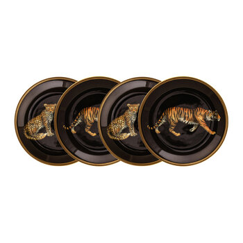 Magnificent Wildlife Coasters - Set of 4 - Tiger/Leopard