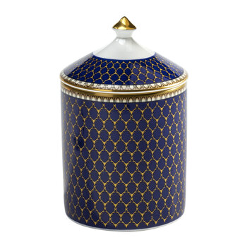 Gordon Castle Antler Trellis Lidded Candle - Midnight