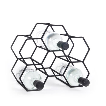 Pico Honeycomb Wine Rack - Black - Small