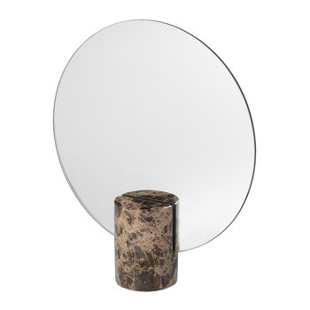 Pesa Marble Table Mirror - Brown