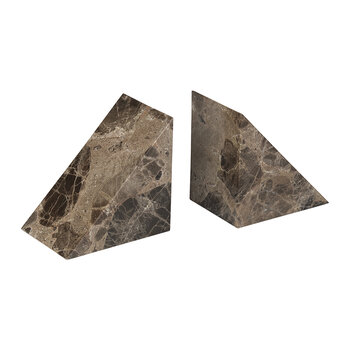 Pesa Marble Bookend - Set of 2 - Brown