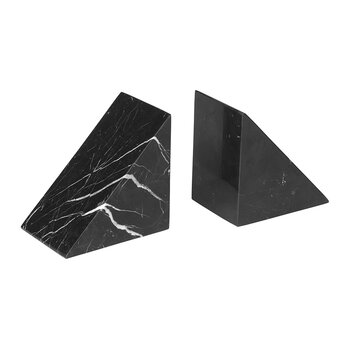 Pesa Marble Bookend - Set of 2 - Black