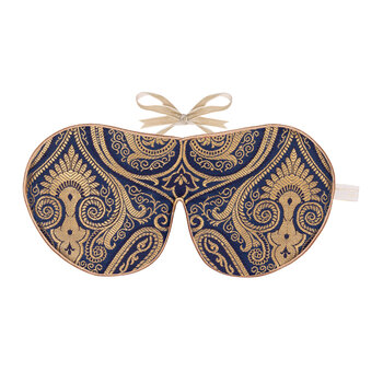 Limited Edition Eye Mask - Navy Damask