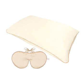 Rejuvenating Eye Mask & Pillowcase Set - Cream