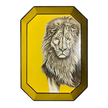 Hand-painted Iron Tray - Lion
