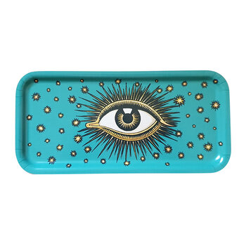 Wooden Eye Tray - Turquoise
