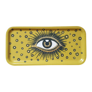 Wooden Eye Tray - Yellow