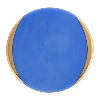 Gold Murano Charger Plate - Blue