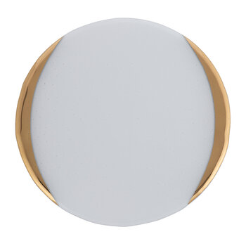 Gold Murano Charger Plate - Gray