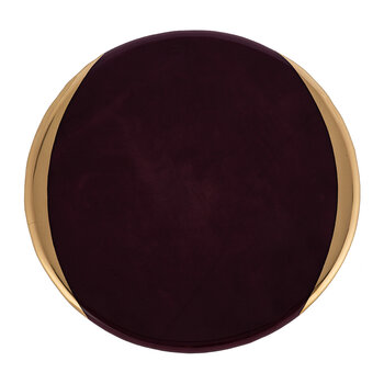 Gold Murano Charger Plate - Purple