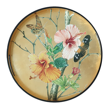 Butterfly Flower Lacquer Tray
