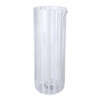 Cabana Glass Pitcher - White