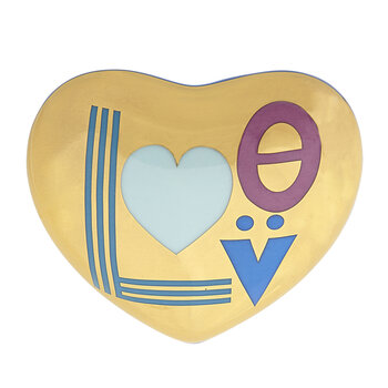 Love Heart Trinket Box - Blue/Gold