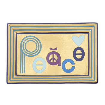 Peace Rectangular Tray
