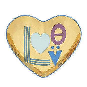 Love Trinket Tray - Blue/Gold
