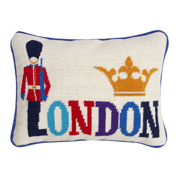 Jet Set Cushion - London