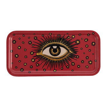 Amara Exclusive Wooden Eye Tray - Red