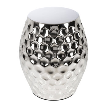 Honeycomb Stool - Silver