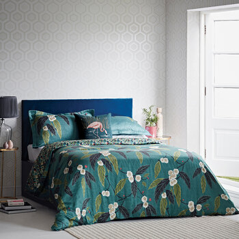 Coppice Quilt Cover - Peacock