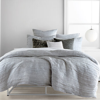 City Pleat Quilt Cover - Grey