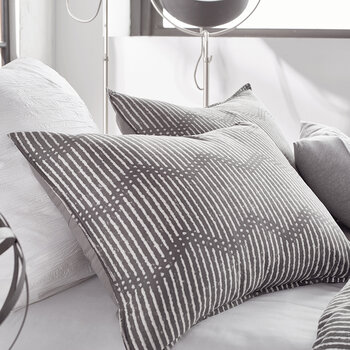 Dot Chevron Standard Pillowcase - Grey