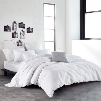 Ripple Duvet Cover - White